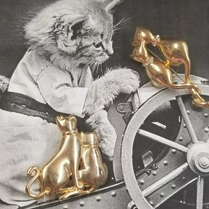 CUTE VTG Kitty Brooches